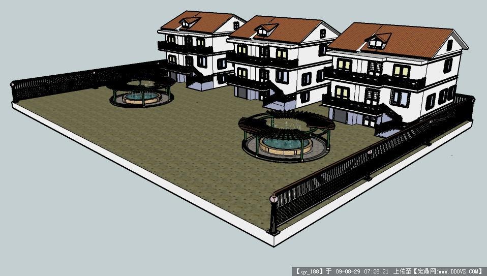 别墅建筑结构图纸sketchup模型素材