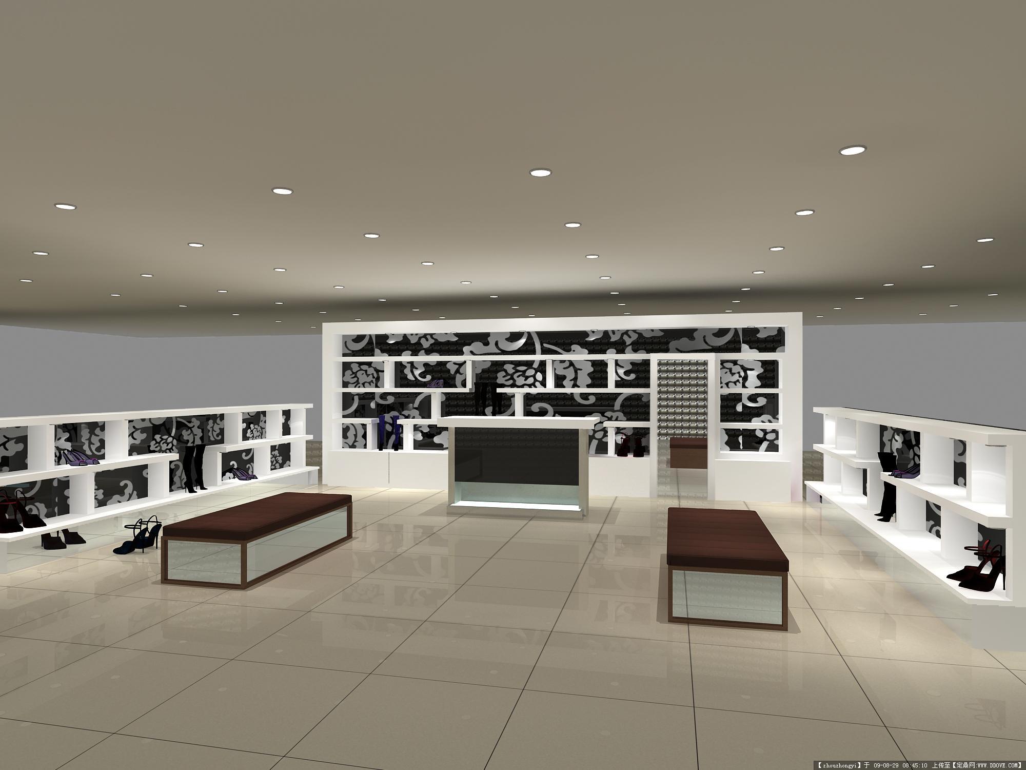 某专卖店室内装饰方案效果图