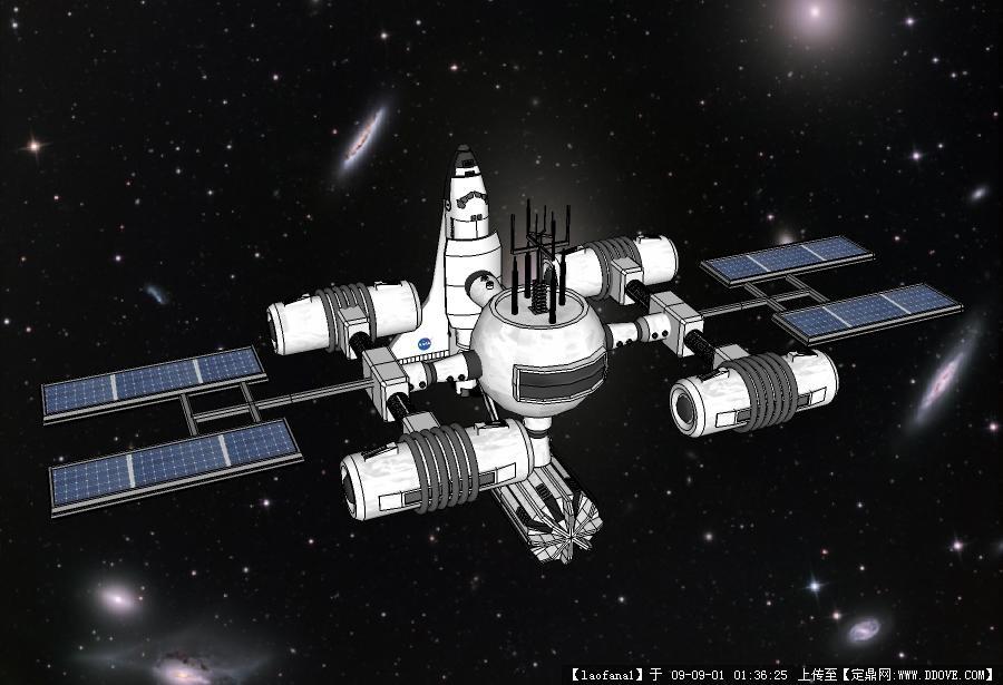 太空飞船的sketchup模型