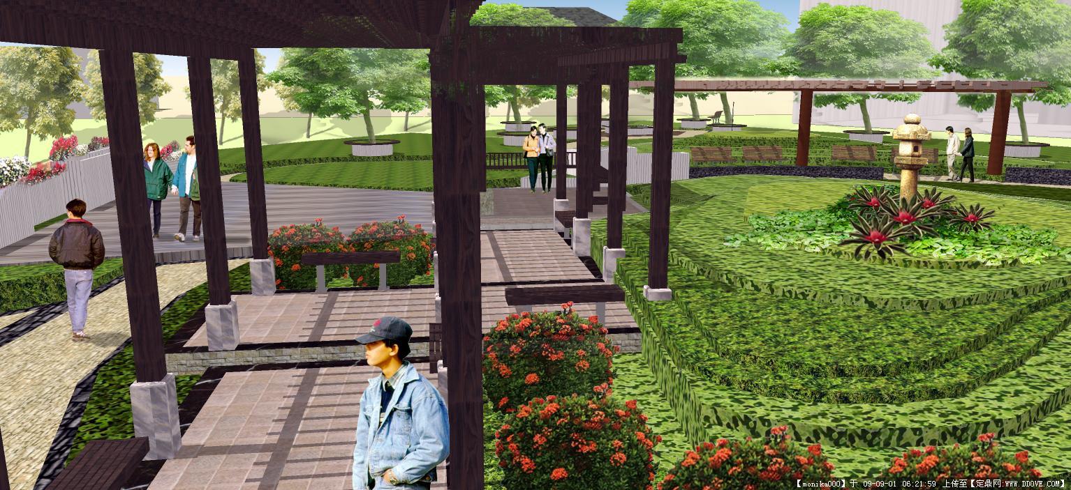 某住宅规划-公园走廊.jpg 原始尺寸:1534 * 703