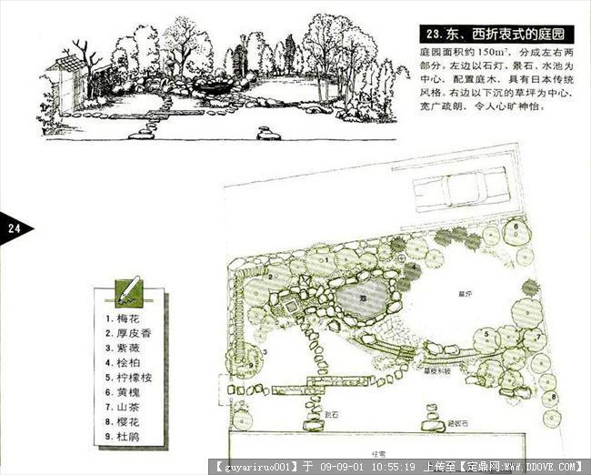 中式园林简笔画