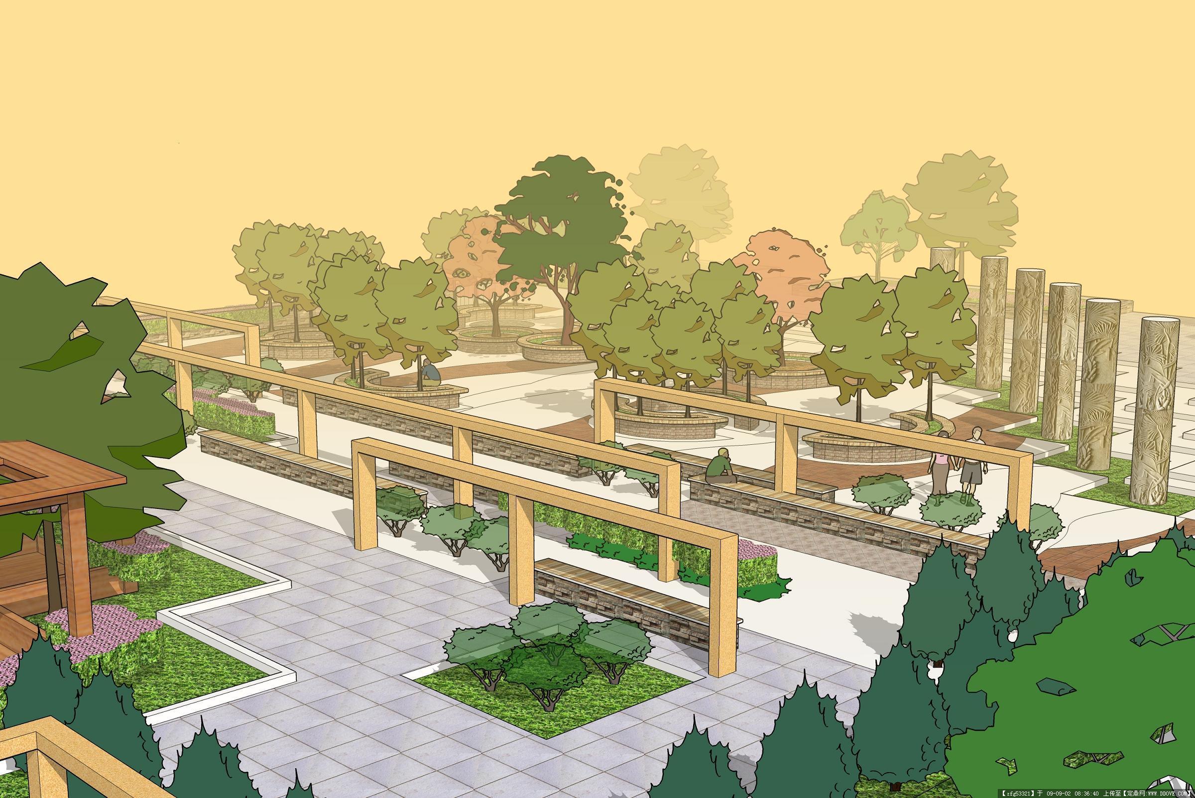 广场手绘景观方案
