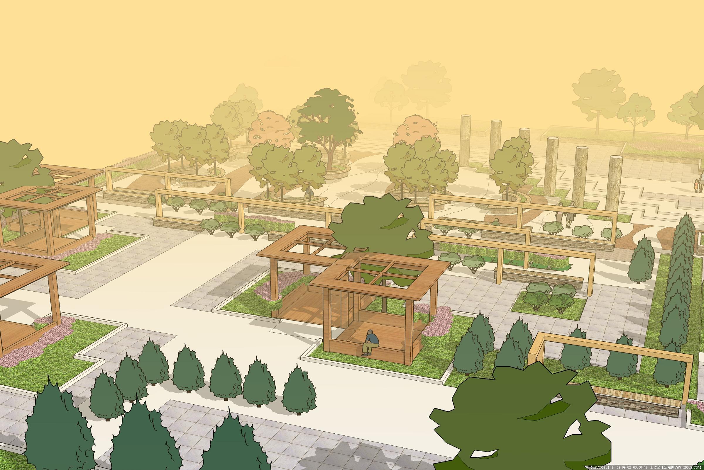 景观设计方案手绘效果图的图片浏览,园林项目案例,,.