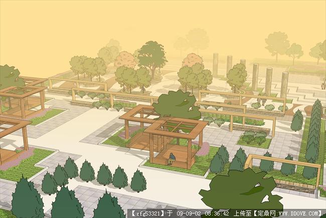 景观设计方案手绘效果图