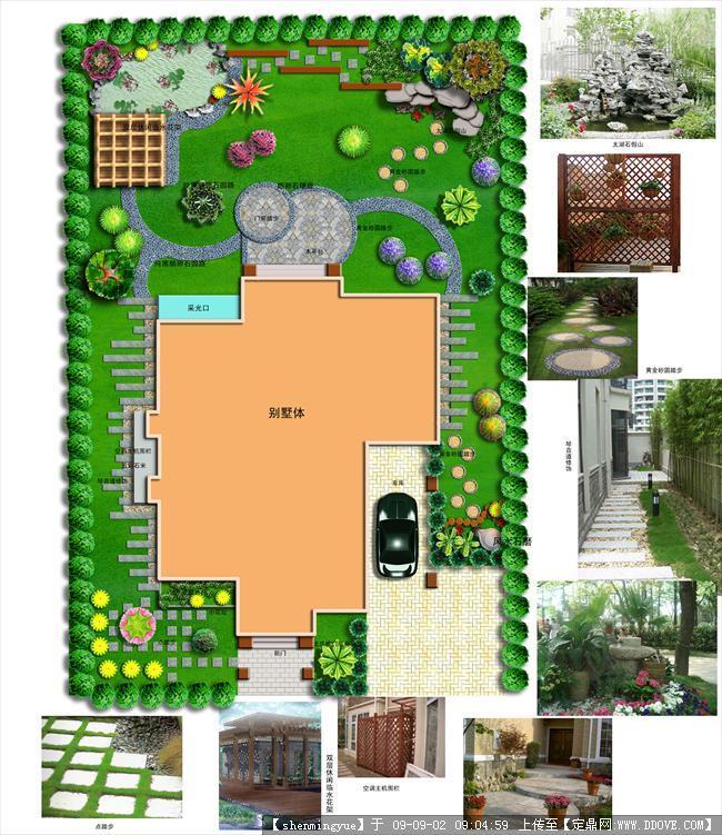 某私家庭院景观设计规划平面效果图
