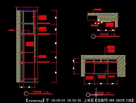 墙体外包柜木饰面节点图5