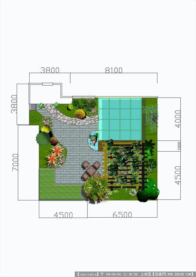 某私家花园平面效果图的下载地址