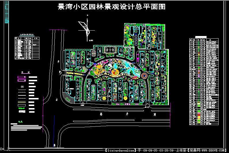 广场cad方案图