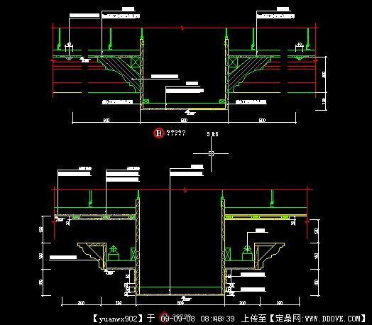 石膏板顶角线叠级造型节点图1高清图片