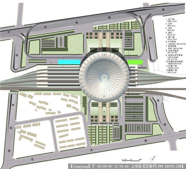 某地火车站南站全套规划施工图