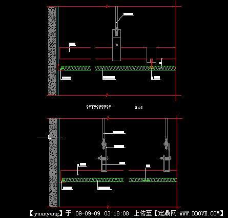 矿棉板与墙收边节点图