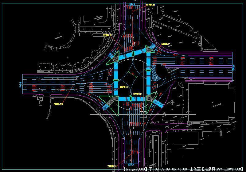 超大型路口交通设计方案cad图纸