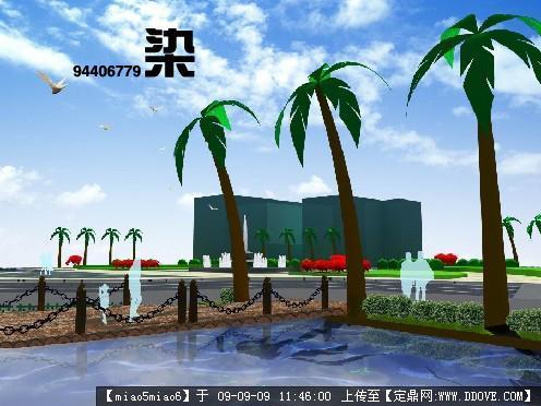 广场-景观小景效果图7张