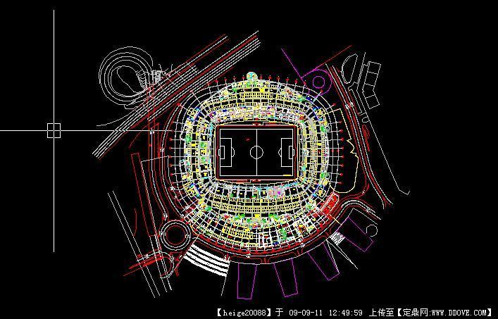 足球场场地规划cad方案