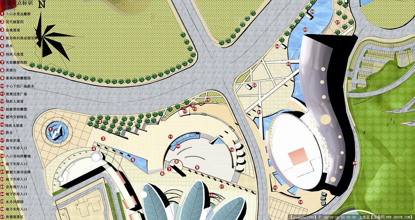 广州番禺星海文化广场体育公园景观-1雕塑广场总平面图.jpg