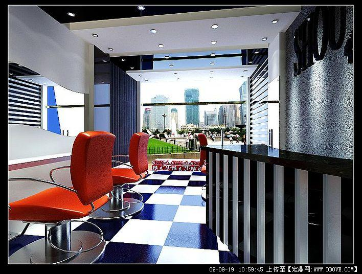 理发店室内装饰效果图带3dmax模型贴图及效果图