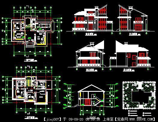珠宝总别墅加平、立、图纸CAD平面剖面cadv珠宝图片