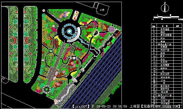 小游园景观设计方案cad图纸