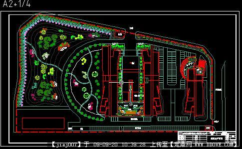 屋顶花园景观设计方案总平面图