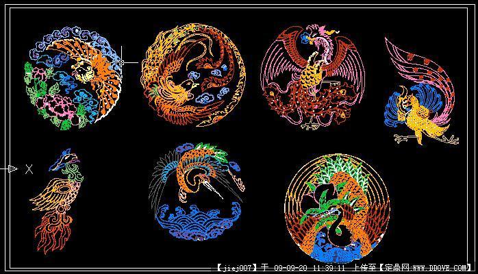 古代动物纹样凤凰