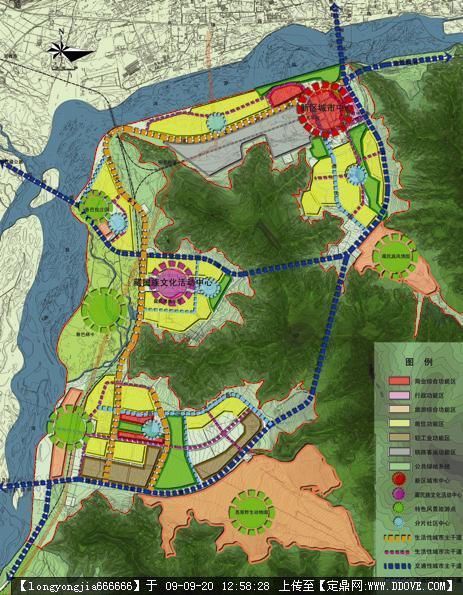 拉萨柳吾新区规划-规划结构图