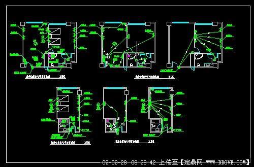 单身公寓平面设计图_豪华公寓电气平面布线图