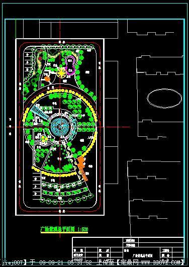 一個大型廣場景觀設計方案總平面圖