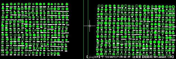 CAD植物园林大全图块图库报告(全部带名字的修改树木图纸图片