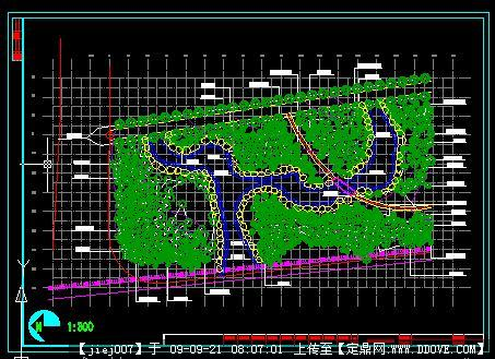 cad水路施工图