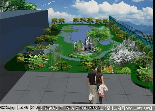 农村中式别墅庭院设计展示
