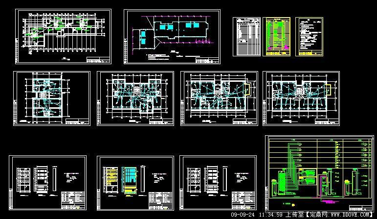 六层住宅楼电气设计图纸