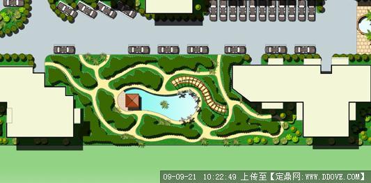 小区景观设计彩平图