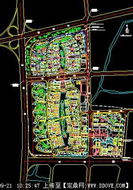 居住小区绿化植物配置平面图