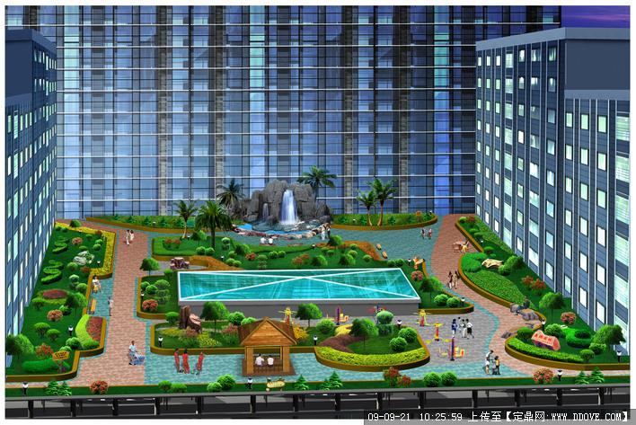 空中花园(屋顶花园)景观设计方案效果图
