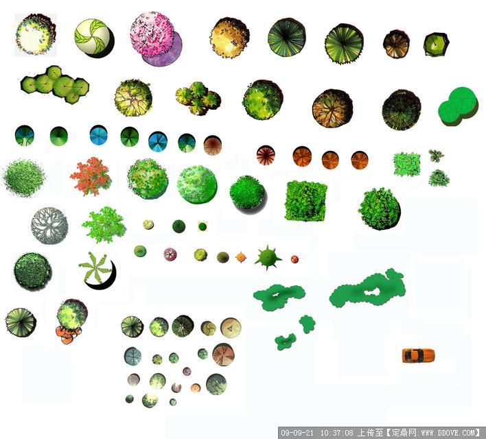 ps平面植物材质