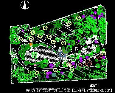 景观园林手绘平面分布图