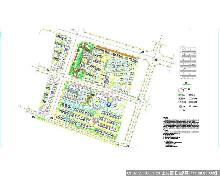 小区建筑规划平面图