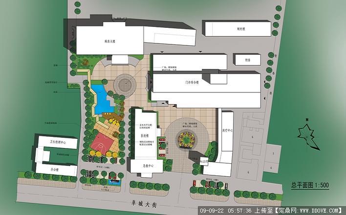 医院景观方案总平面图