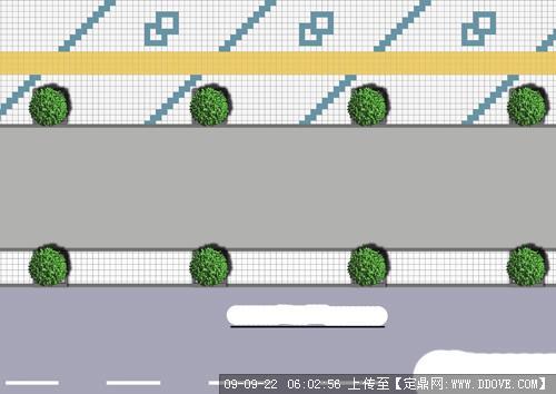 某街道铺装设计平面图纸