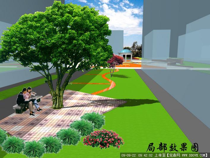 定鼎园林 园林方案设计 公园景观  资料说明:  组团的直线与斜线,折线