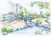 效果图 手绘/建筑景观彩铅手绘效果图