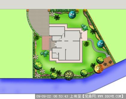 别墅景观设计平面布置图