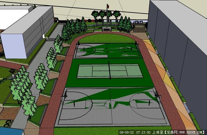 花荄镇初级中学操场规划效果图高清图片