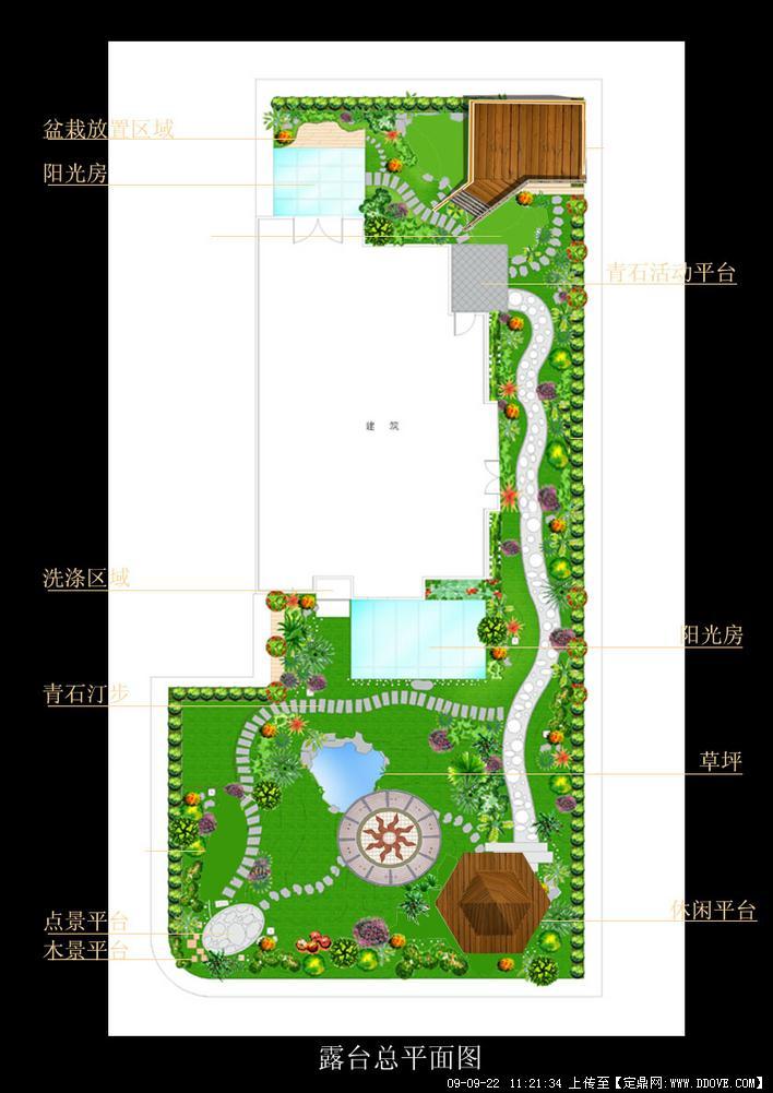 露台绿化设计方案总平面图