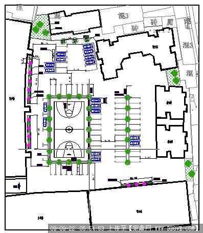 一个幕墙内的停车场,还有配置绘图CAD图纸cad大院绿化顺序图片