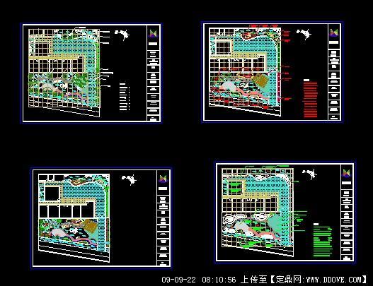 样板庭院别墅v样板CAD平面图农村别墅景观图片
