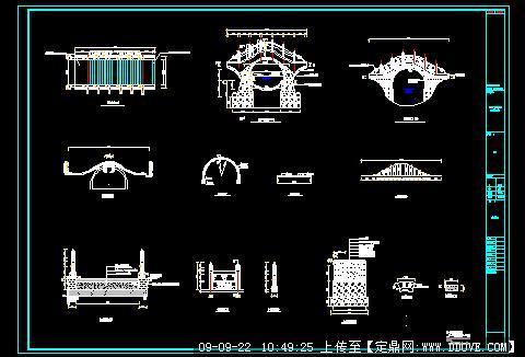 景观详图CADv景观大小()cad能指定不能放到放大拱桥图片