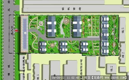 定鼎网 定鼎园林 园林效 果图 居住区 小区景观规划方案彩平图  序号