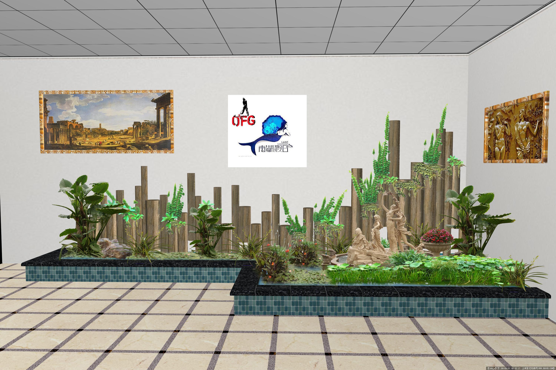 室外庭院景观效果图