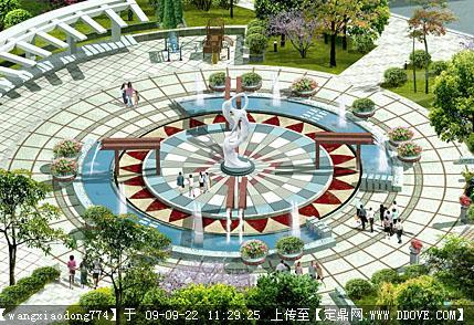 广场景观设计方案cad图纸的下
